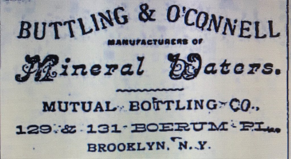 Mutual bottling co 127 129 boerum place brooklyn ny diamond based on this id say 1897 was probably close to the start of the business the copartnership and corporation directory of the boroughs of brooklyn and reheart Gallery