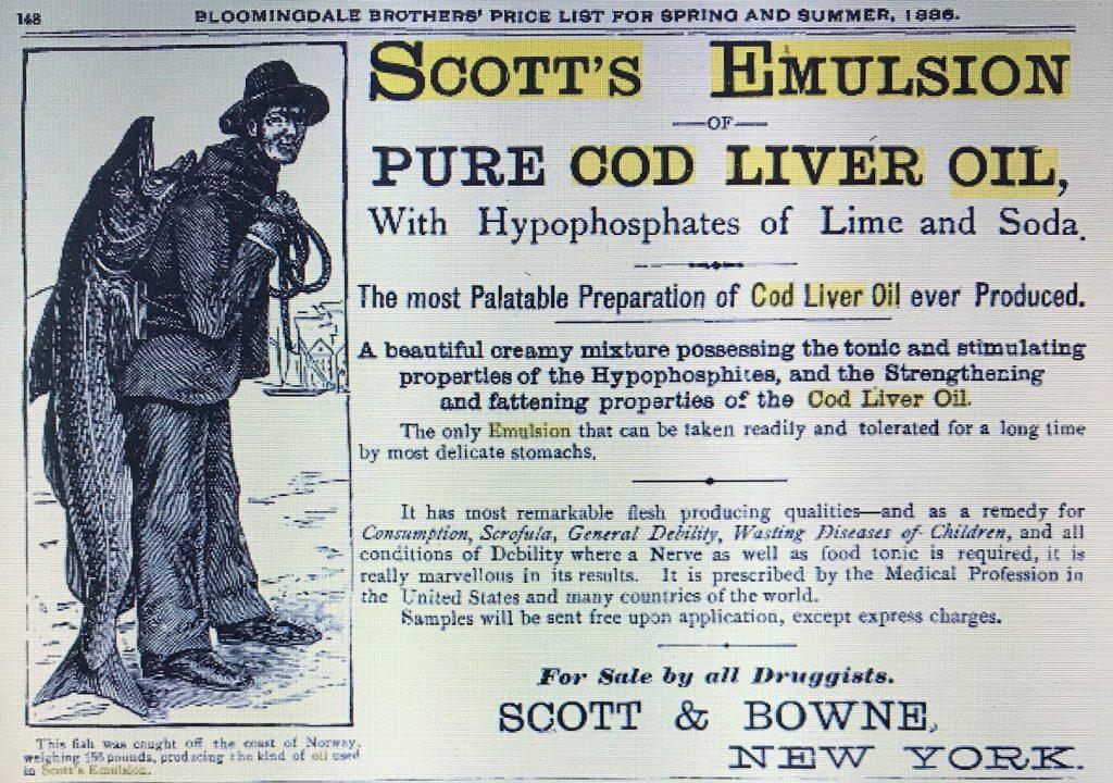 Scotts emulsion bottles dating