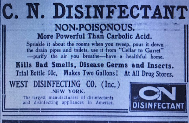 CN Disinfectant, West Disinfecting Company, New York – Bay